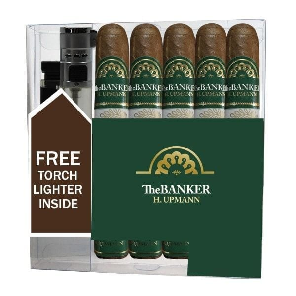 H. Upmann The Banker Annuity 5 Pack with Torch Lighter